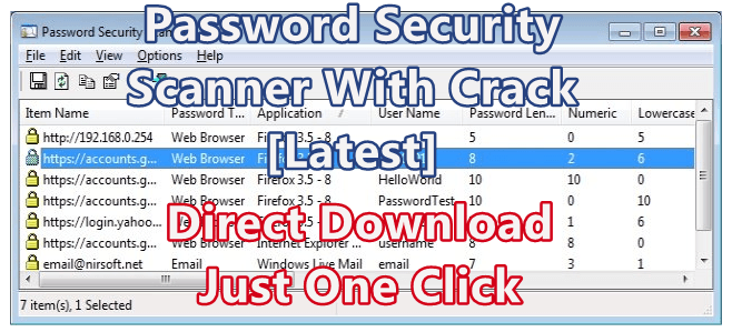 Password Security Scanner 1.50 With Crack [Latest]