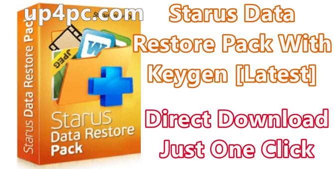 Starus Data Restore Pack 2.8 With Keygen [Latest]