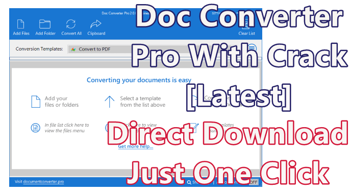 Doc Converter Pro 2.0.0 Business With Crack [Latest]