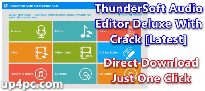 ThunderSoft Audio Editor Deluxe 7.6.0 With Crack [Latest]