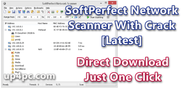 SoftPerfect Network Scanner 7.2.8 With Crack [Latest]