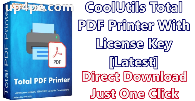 CoolUtils Total PDF Printer Crack 4.1.0.41 With License Key [Latest]