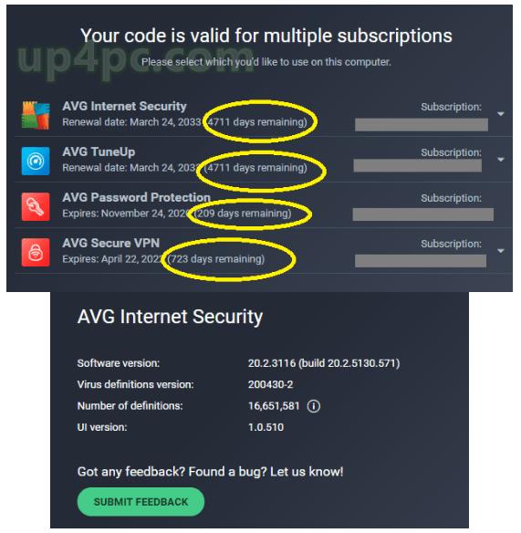 AVG Internet Security 20.2.3116 License Key