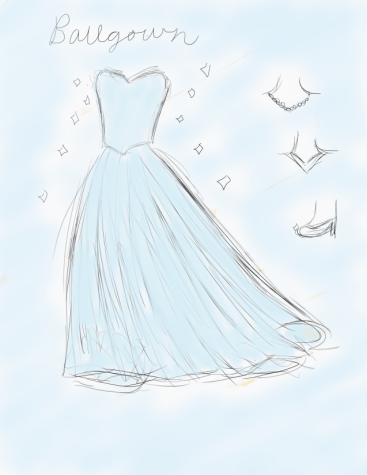 Who wouldn't love to feel like a princess at prom? The full skirt of a ballgown prom dress makes it fun to twirl around. With a light-sky blue ball gown inspired by Cinderella, you can pair it with white pearls or a diamond necklace. Classic pumps go well with a classic ball gown. Just make sure they aren't made of glass!