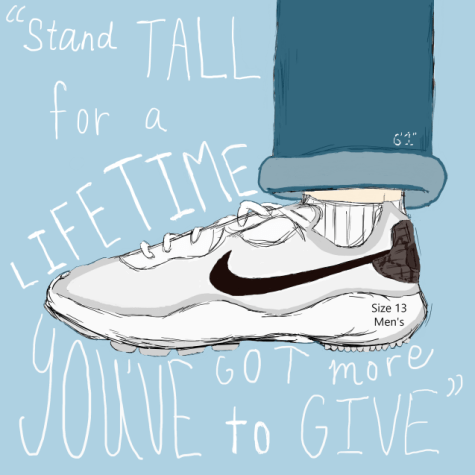 """The words in the image are from the first lyrics of the movie's song """"Stand Tall"""" by Voila ft. Ava Michelle. Digital Illustration by Betty Nguyen."""