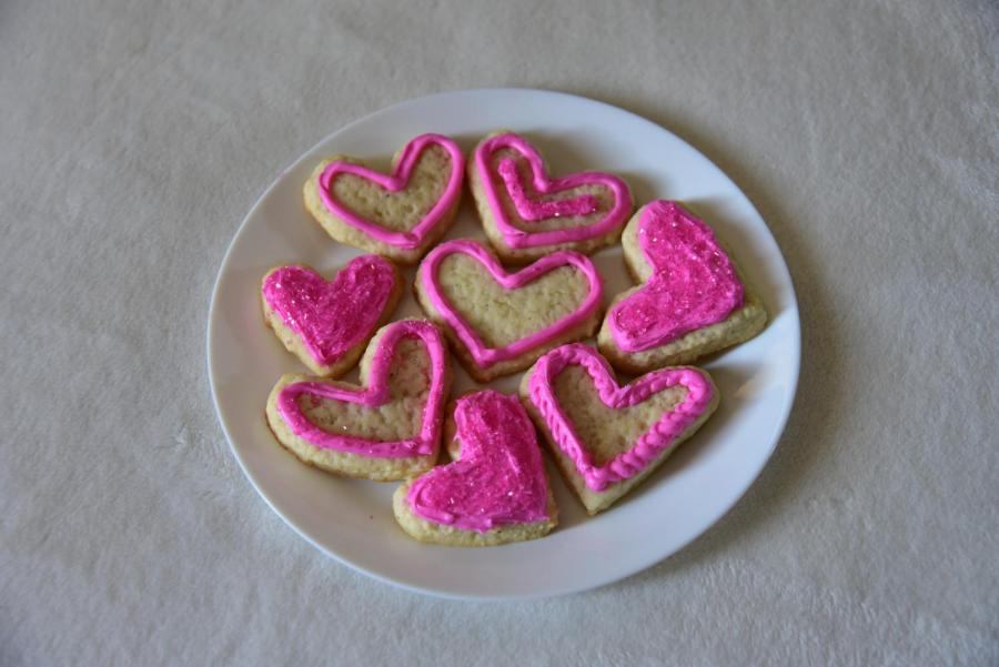 These cookies are a perfect way to show your admiration from someone this Valentine's Day. The cinnamon baked into the cookies adds a layer of depth to your average sugar cookie.
