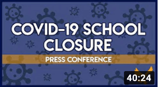 Second COVID-19 School Closure Press Conference | Breaking News
