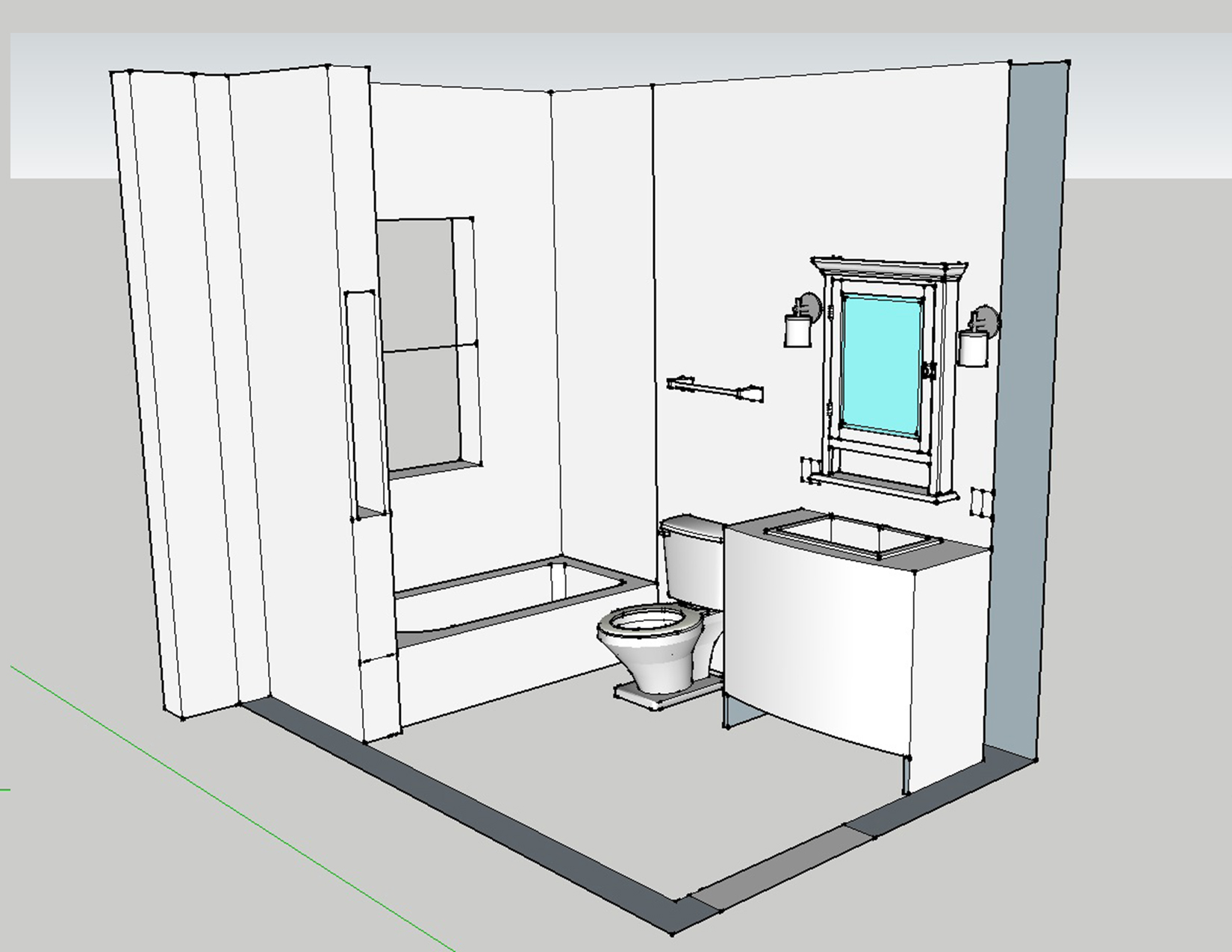 hight resolution of 3d bath layout