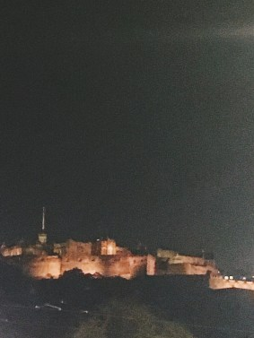 Edinburgh Castle on Halloween
