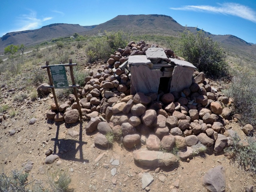 A historic hyena trap