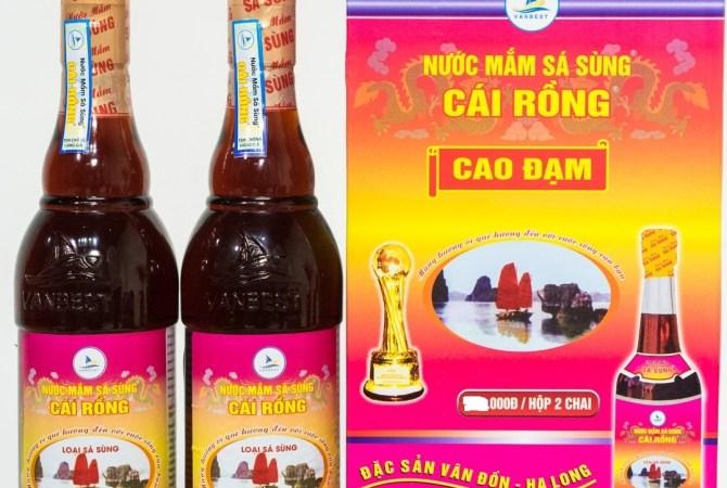Nước Mắm Sá Sùng Cái Rồng – 40N – Hộp 2 Chai 350ml/Chai