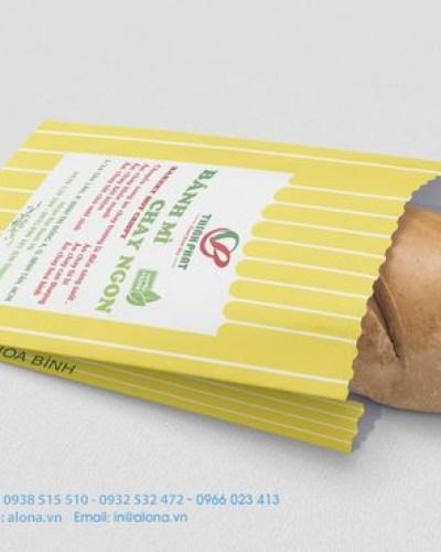 Những mẫu túi giấy đựng bánh mì cho tiệm bánh