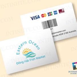 Mẫu thẻ nhựa Đông Hải Fish Market