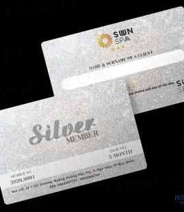 Mẫu thẻ nhựa – thẻ thành viên Sun Spa