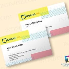 Mẫu thẻ nhựa danh thiếp Quang Hà