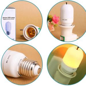Đèn LED lọc không khí ION âm NANO Gnesco 1W (sáng vàng ấm)