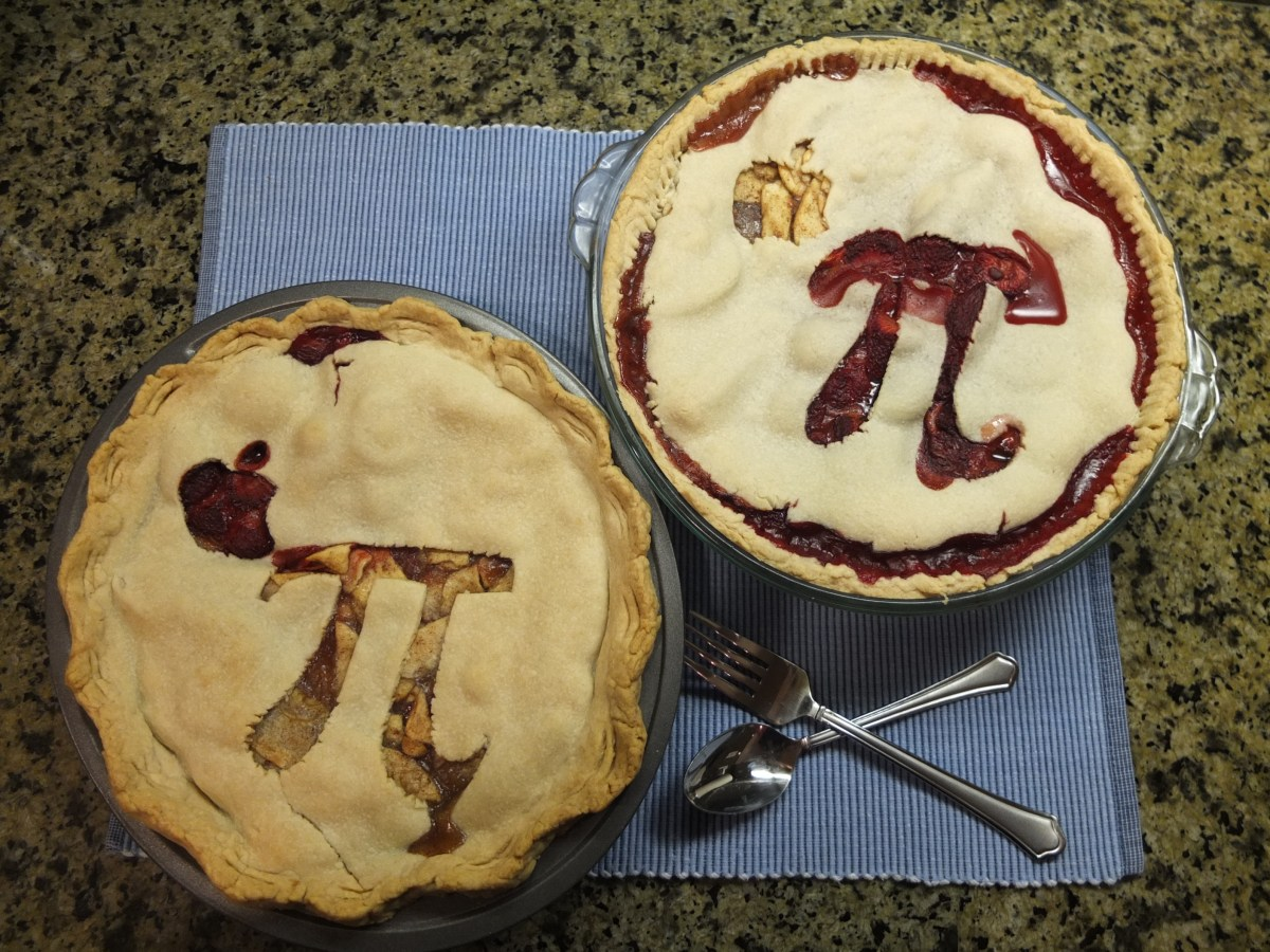 Two finished Apple Pies for Pi Day