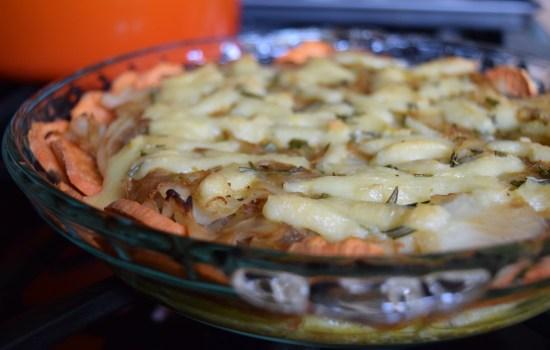 Caramelized Onion Cabbage Quiche