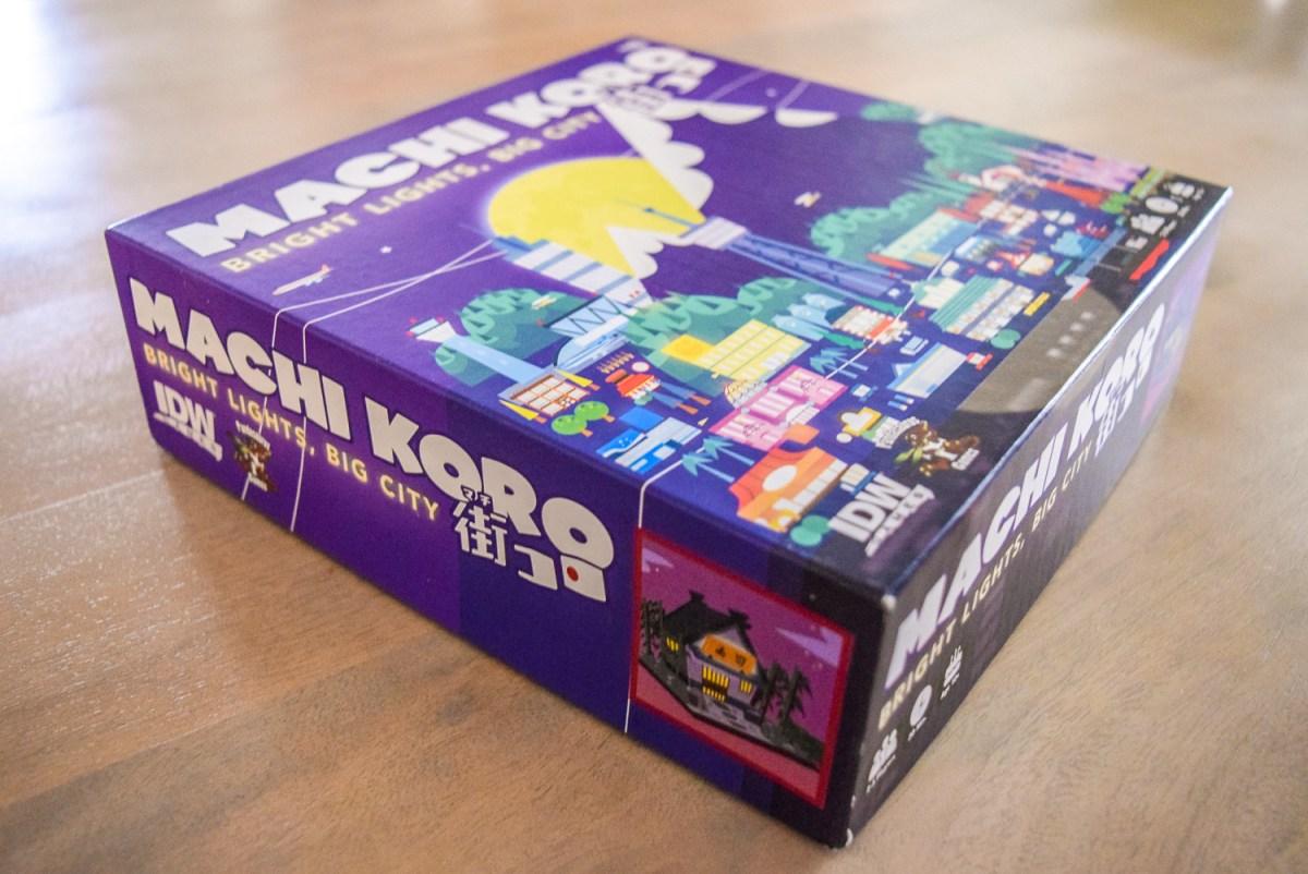 Machi Koro: Bright Lights, Big City box from the side