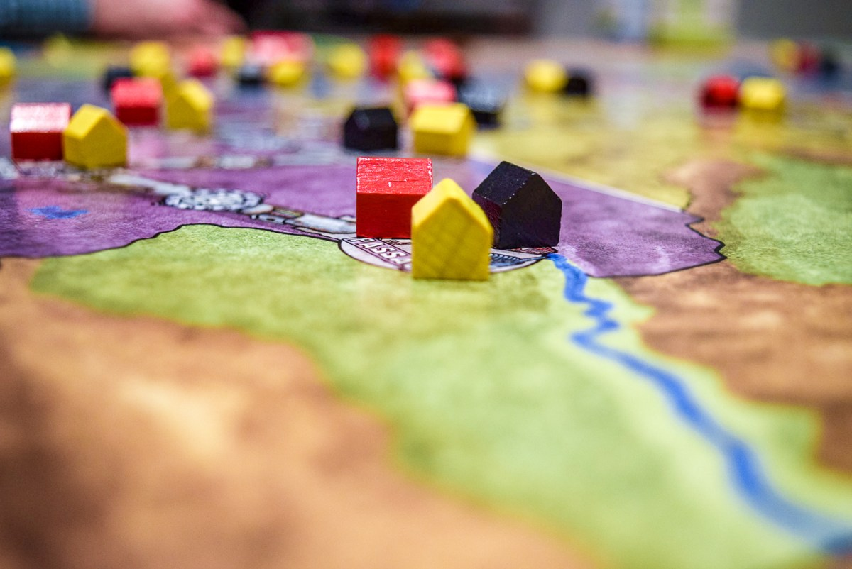 Houses on cities for Power Grid Board Game