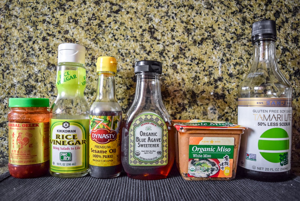 Ingredients for chili miso sauce
