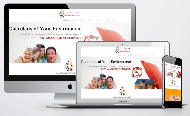 website development pest control companies