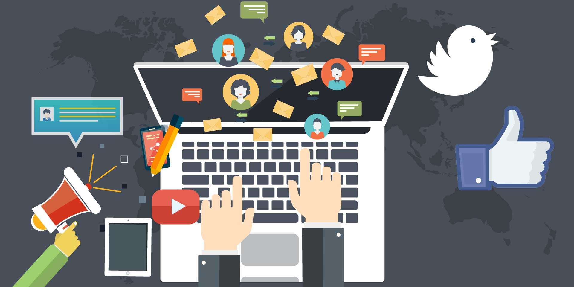 خدمة ادارة حسابات التواصل الاجتماعي