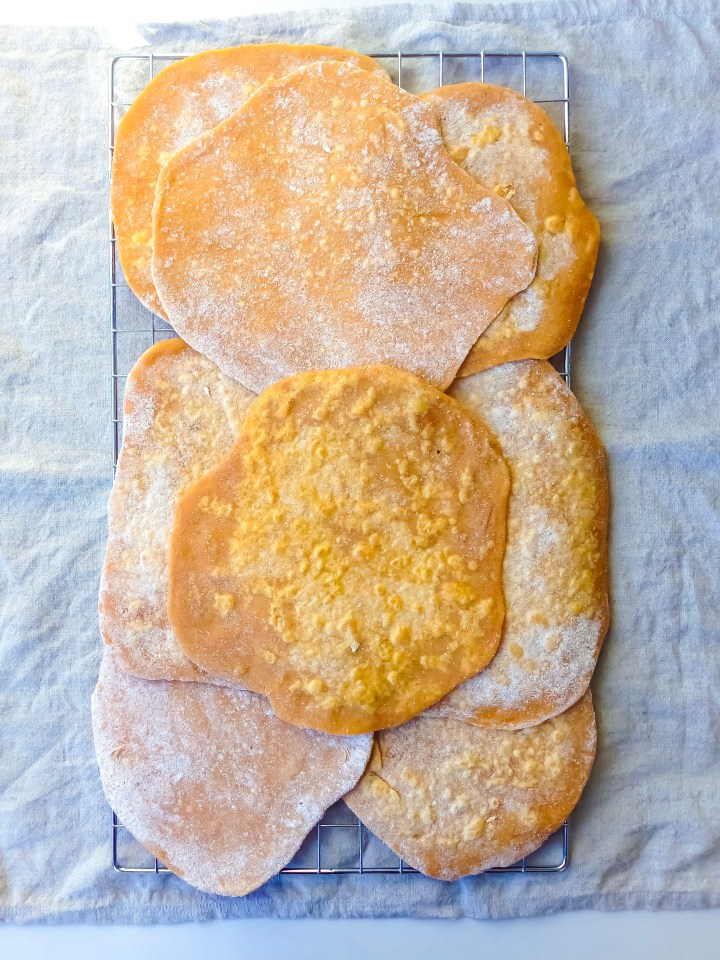 sweet potato flatbreads