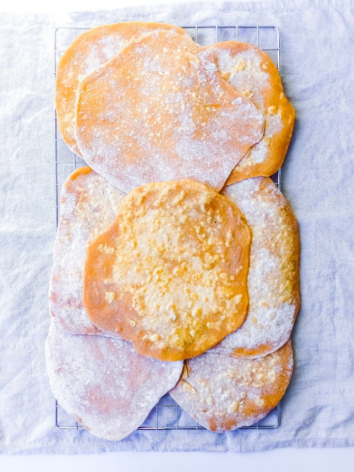 sweet potato flatbreads