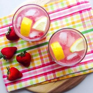 strawberry gin and tonics