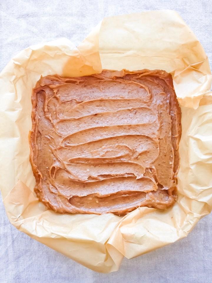 date peanut butter caramel square