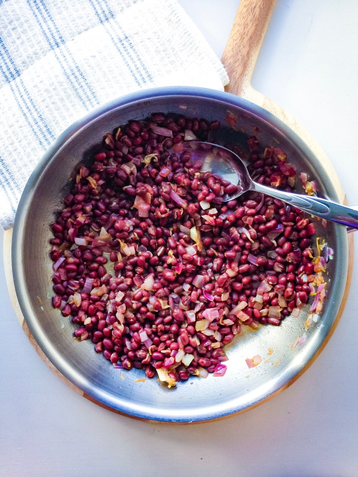 Marinated adzuki beans, part of my macrobiotic bowl recipe