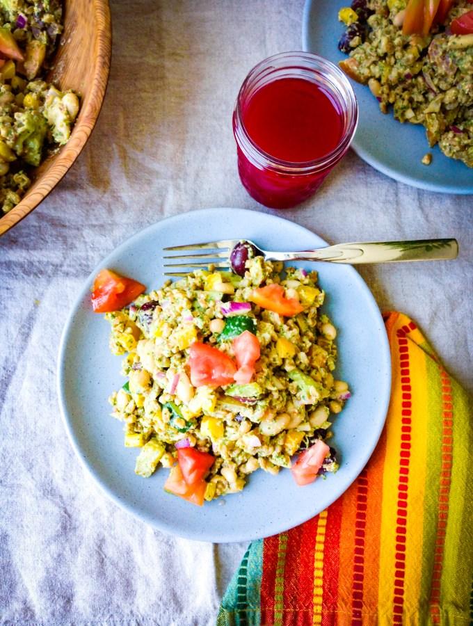 farro pesto white bean salad recipe