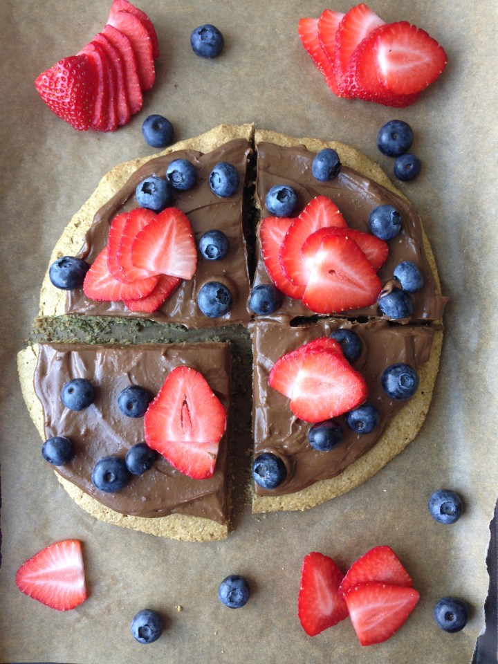 Healthy dessert pizza recipe