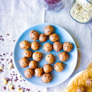 Cashew Chocolate Cookie Dough Balls // UpBeet Kitchen