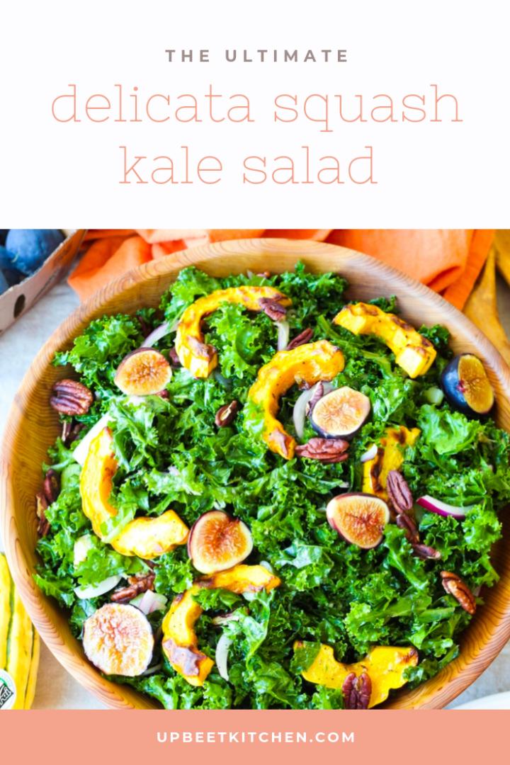 Delicata, Fig, Pecan Kale Salad Recipe