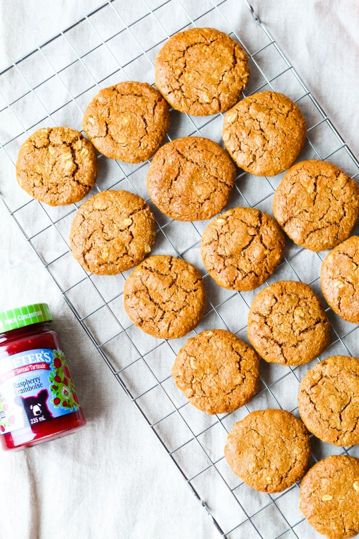 Vegan Peanut Butter and Jam Sandwich Cookies