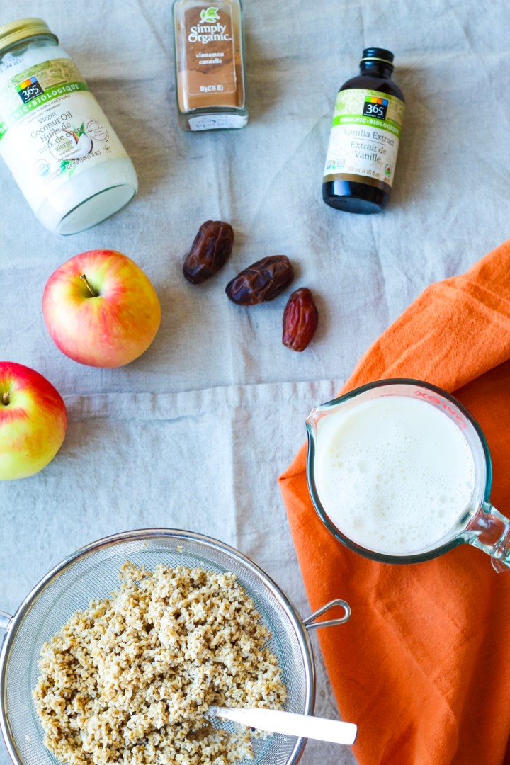 Apple Cinnamon Steel Cut Oatmeal Ingredients