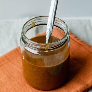Vegan No-Cook Pumpkin Spice Caramel Sauce