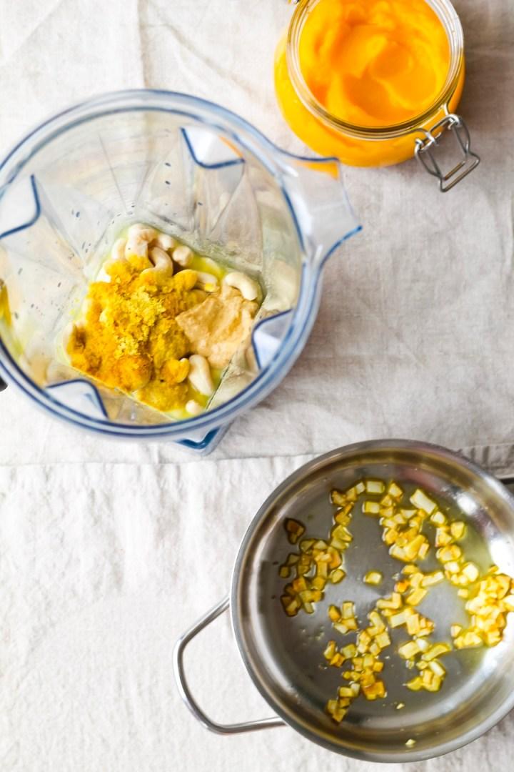 Vegan Pumpkin Alfredo Sauce Recipe Ingredients