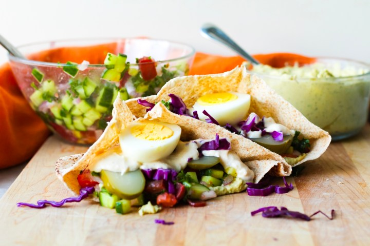 Vegetarian Sabich Sandwiches