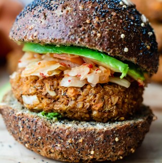 Hearty Tempeh, Quinoa, and Sweet Potato Burgers