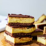 Healthy and delicious almost raw vegan Nanaimo bars recipe (NO BAKE!)