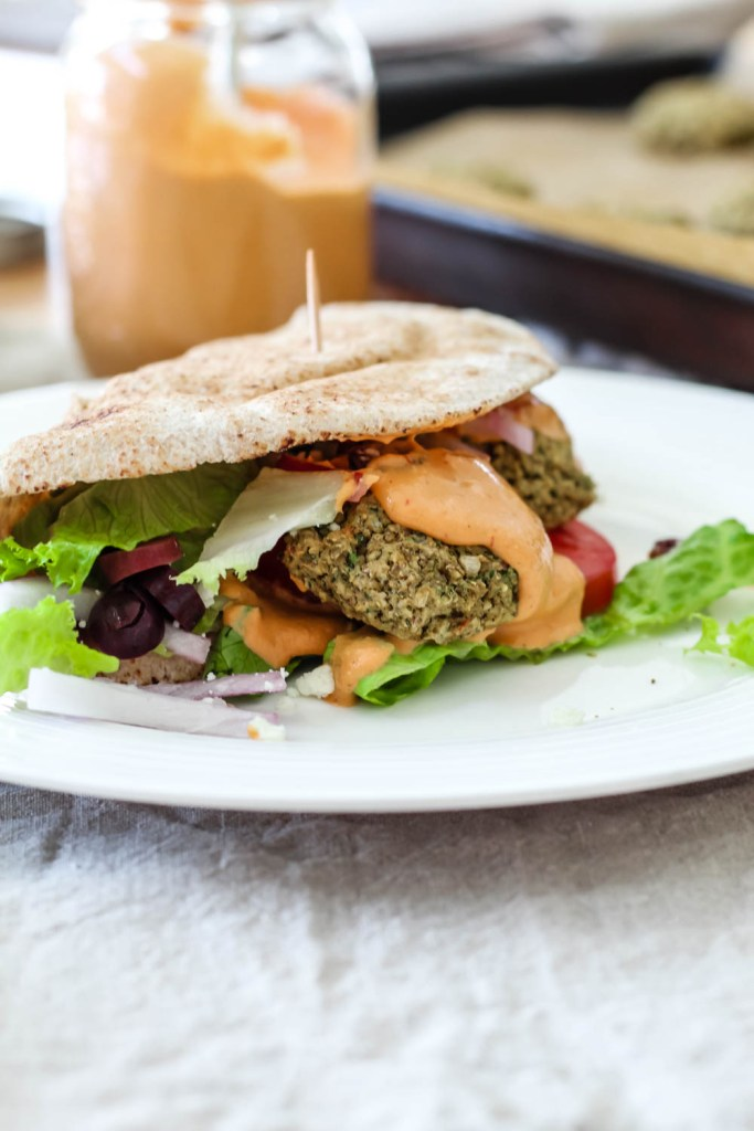 Loaded Lentil Falafel Pitas
