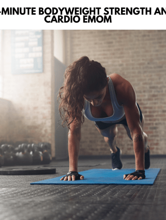 fit woman on a yoga mat in a gym in plank position