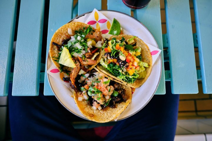 three tacos on a plate- to go with the segment on eating enough