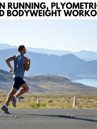 image of a man out for a run with oceans and mountains in the background
