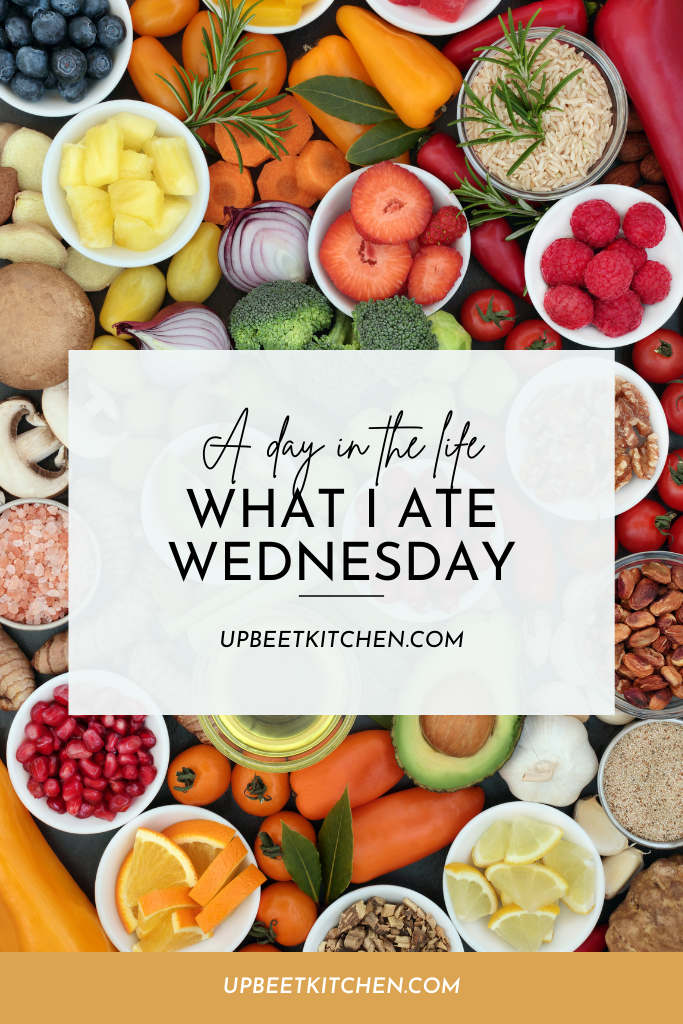 featured image for the post, a Pinterest graphic with the title of the post on a colourful healthy food photo
