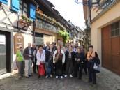 2014_Voyage TerresFrancoGermaniques_Groupe à Eguisheim