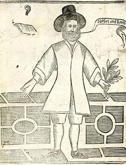 Drawing of a 17th century vegan